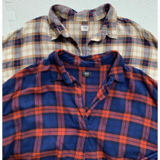 UNIQLO - ユニクロ フランネルチェックスキッパーシャツ 2枚セット XL