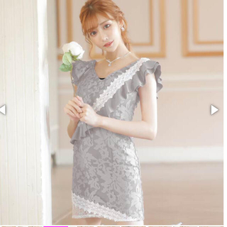dazzy store - カシュクール花柄レースタイトミニドレス