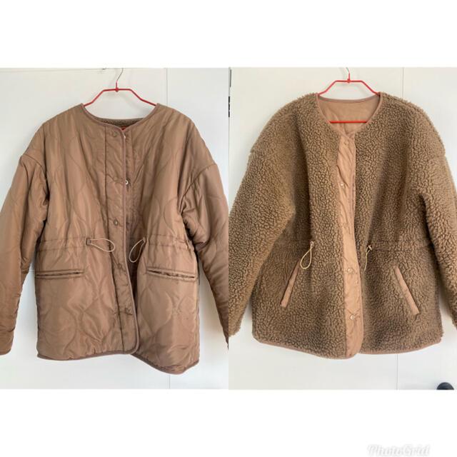 Kastane(カスタネ)の[Auntie Rosa Holiday]キルティングリバーシブルボアブルゾン レディースのジャケット/アウター(ブルゾン)の商品写真