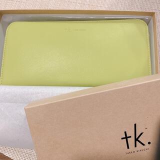 TAKEO KIKUCHI - 【新品】タケオキクチ 長財布 ウォレット イエロー ラウンドファスナー ブランド