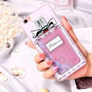 iPhone ケース カバー ピンク 香水瓶柄 7P/8P