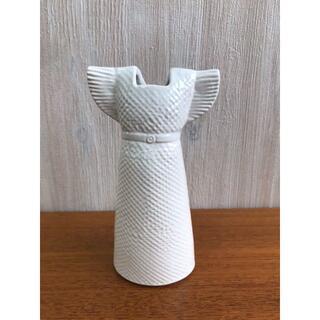 リサラーソン(Lisa Larson)の値下済【280】LISA LARSONリサラーソン ワードローブドレスホワイト(花瓶)