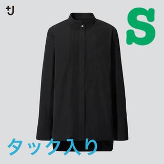 ユニクロ(UNIQLO)のUNIQLO +J ジルサンダー スーピマコットン タックシャツ(シャツ/ブラウス(長袖/七分))