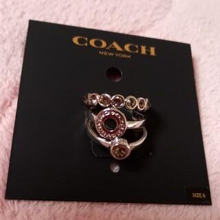 COACH - COACH コーチ 3連リング 指輪 リング