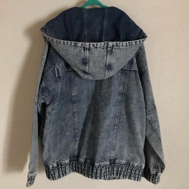 X-girl(エックスガール)のX-girl デニムブルゾン レディースのジャケット/アウター(Gジャン/デニムジャケット)の商品写真