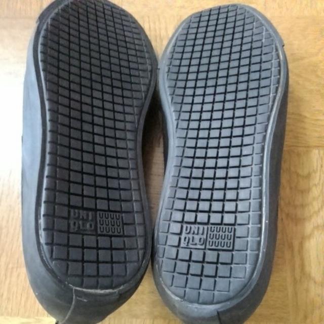 UNIQLO(ユニクロ)のユニクロ スリッポン27.0㎝ 黒 メンズの靴/シューズ(スリッポン/モカシン)の商品写真