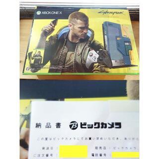 エックスボックス(Xbox)のXbox One X 本体 サイバーパンク2077 リミテッド エディション(家庭用ゲーム機本体)