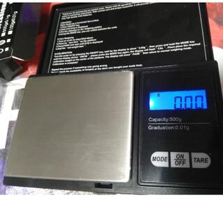 最新型2020便利♪0.01g単位で500g計れる♪計量はかりデジタルスケール