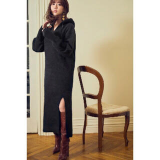 snidel - 【Her lip to】Relax Hooded Knit Dress