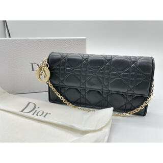 Christian Dior - Dior LADY DIOR ロングウォレット チェーンウォレット