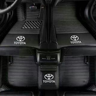 トヨタ専用 自動車用フロアマット皮革フロアマッ高品質人工皮革(車内アクセサリ)