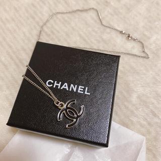 CHANEL - CHANEL 正規品 ロゴネックレス シルバー×ブラック