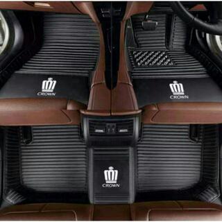トヨタCROWN専用 自動車用フロアマット皮革フロアマッ高品質人工皮革(車内アクセサリ)