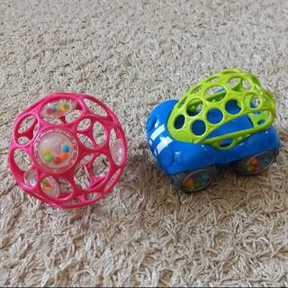 ニシマツヤ(西松屋)のかにゃん様♪専用です♪オーボール!ボールと車のセット(知育玩具)