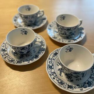 ニッコー(NIKKO)の【販売終了品】NIKKO コーヒーカップ&ソーサー 4客セット(グラス/カップ)