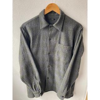 コモリ(COMOLI)のCOMOLI 20AW ウール チェック オープンカラーシャツ コモリ サイズ1(シャツ)