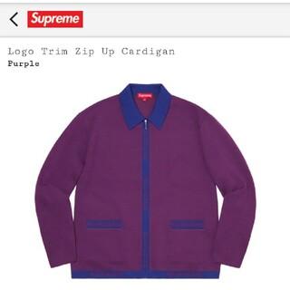 Supreme - Supreme Logo Trim Zip Up Cardigan