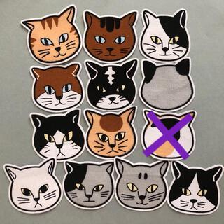 布シール⚫︎12匹の猫+1匹(枠あり)(その他)