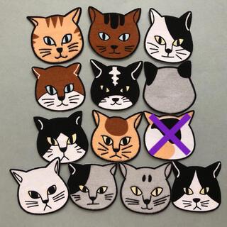 布シール⚫︎12匹の猫+1匹(枠なし)(その他)