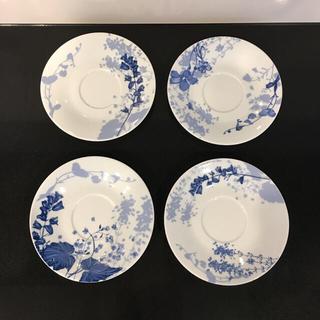 ジバンシィ(GIVENCHY)のビンテージ GIVENCHY ジバンシー ブルーのお花 ソーサーのみ4枚(食器)