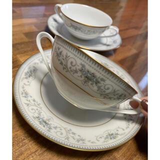 ノリタケ(Noritake)の【美品】ノリタケ スープカップ&ソーサー 2客 ノーブル NOBLE スープ皿(食器)
