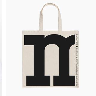 marimekko - マリメッコ  キオスキ 70周年記念 ロゴ柄ファブリックバッグ