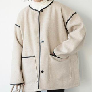アントマリーズ(Aunt Marie's)のノーカラーパイピングコート(ノーカラージャケット)