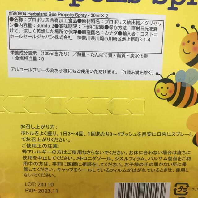 プロポリススプレー 30ml 2本 新品、未開封です! コスメ/美容のオーラルケア(マウスウォッシュ/スプレー)の商品写真