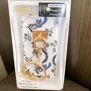 ムルーア(MURUA)の【新品未使用】MURUA 花柄 リング付き iPhone7/8ケース(iPhoneケース)