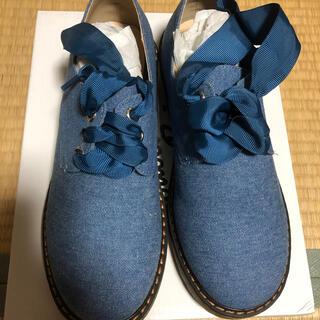 Nouble Voug Relax レースアップシューズ ブルー Mサイズ(ローファー/革靴)