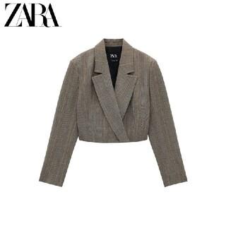 ZARA - Mサイズ ZARA クロップド丈ブレザー