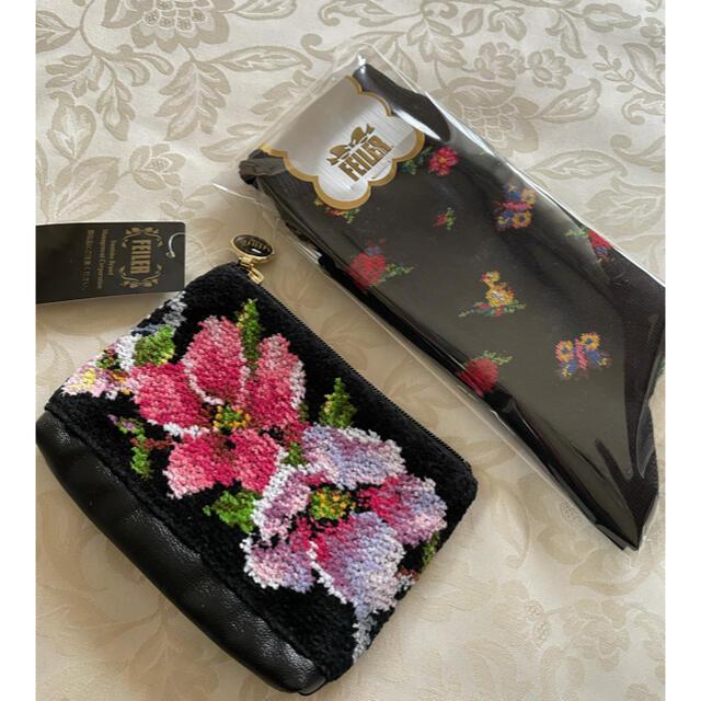 FEILER(フェイラー)のフェイラーハイジ靴下 フェイラーポーチ 新品 レディースのレッグウェア(ソックス)の商品写真
