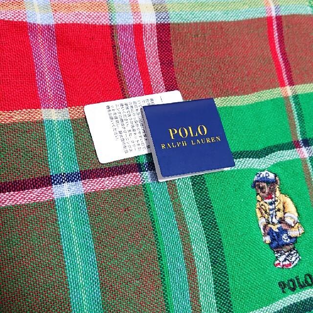 POLO RALPH LAUREN(ポロラルフローレン)のポロラルフローレン ハンカチ ポロベア 新品 レディースのファッション小物(ハンカチ)の商品写真