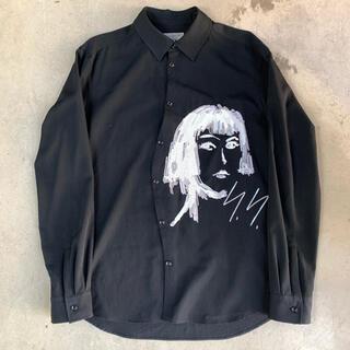 Yohji Yamamoto - ヨウジヤマモト  16aw 宮沢りえ リエ スパンコール刺繍ウールギャバシャツ
