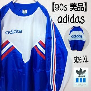 adidas - 90s adidas アディダス ナイロンジャケット プルオーバー ビッグロゴ
