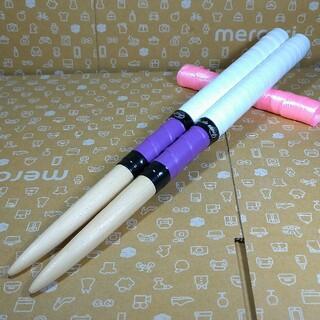 太鼓の達人 マイバチ 米ヒバ 白 紫(パーカッション)
