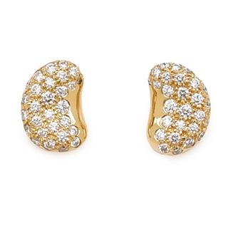Tiffany & Co. - ティファニー  ピアス  ビーンズ ダイヤ   ゴールド