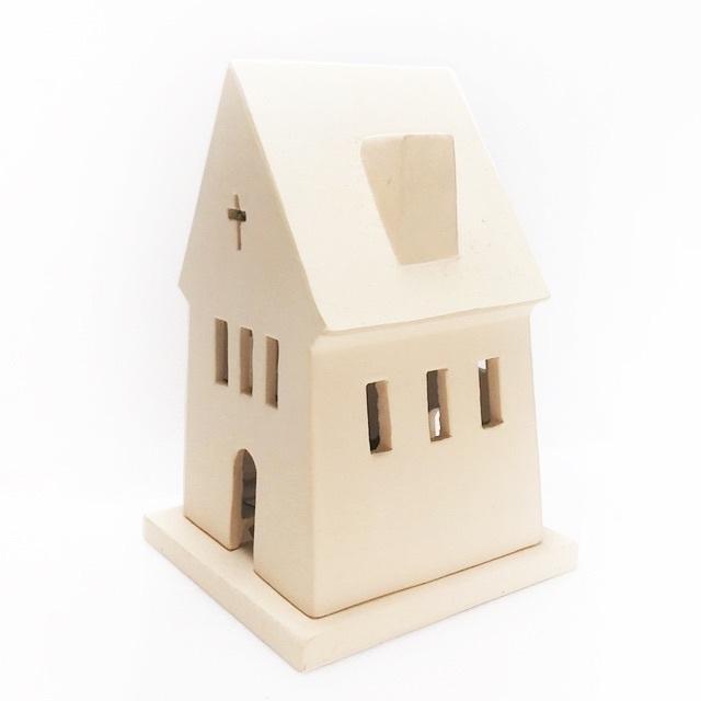 marimekko(マリメッコ)のキャンドルチャペル✨北欧雑貨 LEDキャンドルホルダー ヒュッゲ 素焼きの教会 インテリア/住まい/日用品のインテリア小物(置物)の商品写真