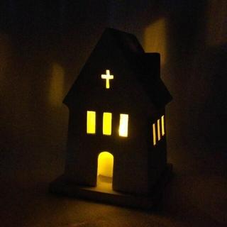 marimekko - キャンドルチャペル✨北欧雑貨 LEDキャンドルホルダー ヨーロッパ 陶器の教会