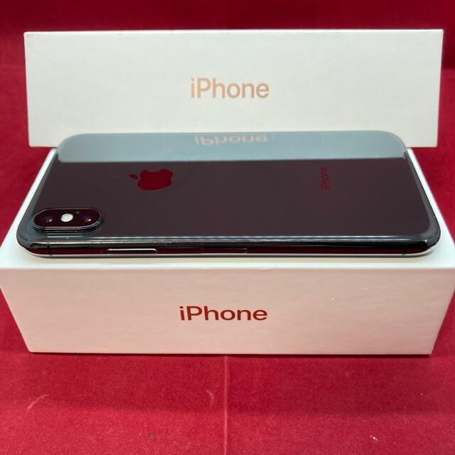 iPhone(アイフォーン)のSIMフリー iPhoneX 256GB ブラック 美品 スマホ/家電/カメラのスマートフォン/携帯電話(スマートフォン本体)の商品写真
