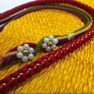 帯揚げ 帯締め セット 成人式 振袖用 カラフル 黄色(和装小物)