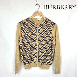 BURBERRY -  Burberry バーバリー  VINTAGE ロゴ金具ボタン カーディガン