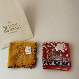 Vivienne Westwood - 2枚❣️新品⭐️ ヴィヴィアン ウエストウッド オーブ刺繍 ハンカチ セット