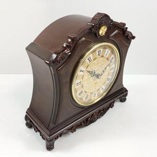 置時計『 栄光の寿ぎ 』村松時計店 天然樺使用【上皇陛下 平成即位30周年記念】(置時計)