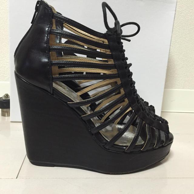 SLY(スライ)のSLYレースアップ グラディエーター ウエッジソールMOUSSYrienda好き レディースの靴/シューズ(サンダル)の商品写真