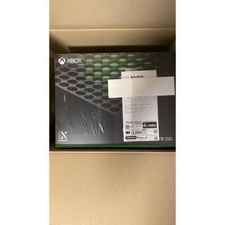 エックスボックス(Xbox)のXbox Series X 【Microsoft】 新品未使用(家庭用ゲーム機本体)