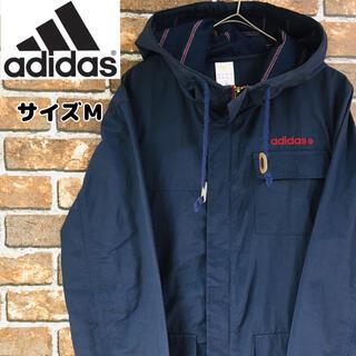 アディダス(adidas)の【レア】アディダスadidas マウンテンパーカーM ワンポイントロゴ ネイビー(マウンテンパーカー)