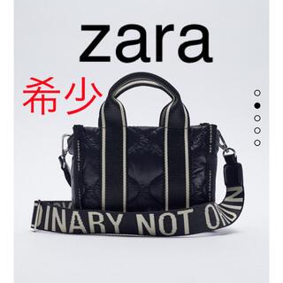 ZARA - ZARA テキストディテールナイロンミニトート