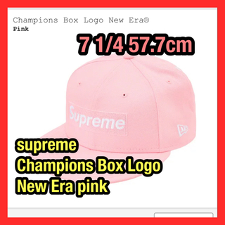 Supreme - supreme Champions Box Logo New Era pink