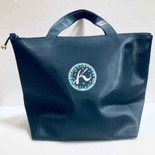 キタムラ(Kitamura)のKITAMURA キタムラ ハンドバッグ トートバッグ ナイロン 紺色(トートバッグ)